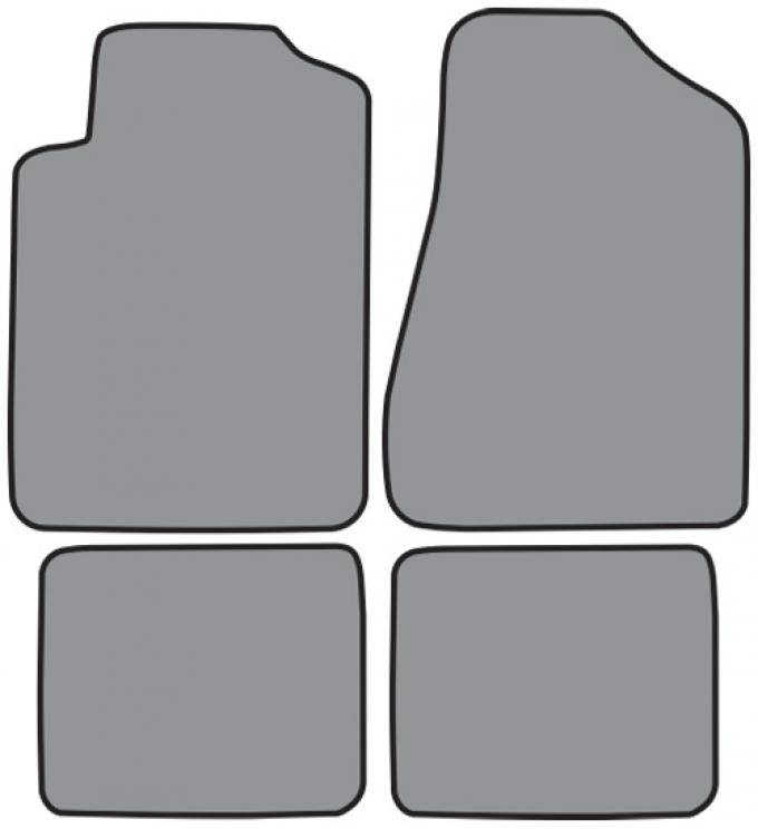 ACC  Chrysler Cirrus Floor Mat 4pc (FM222 FM222R) Cutpile, 1995-2000