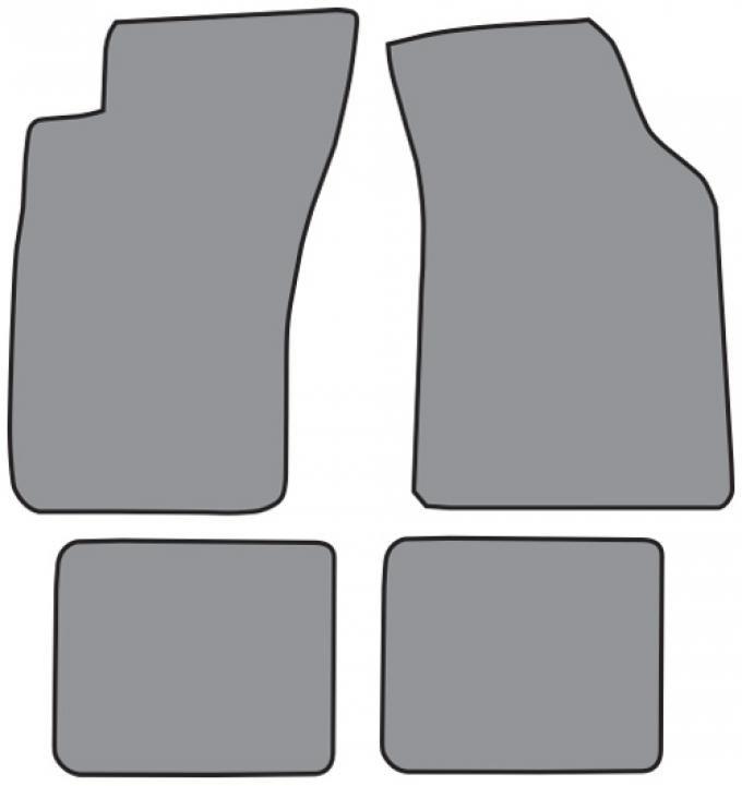 ACC  Dodge Stealth Floor Mat 4pc (DO228F FM18R) Cutpile, 1991-1996
