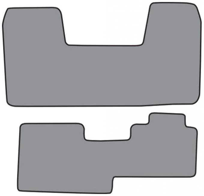 ACC  Chevrolet C3500HD Crew Cab Old Body Style Floor Mat 2pc (FM107 FM107R) Cutpile, 2001-2002