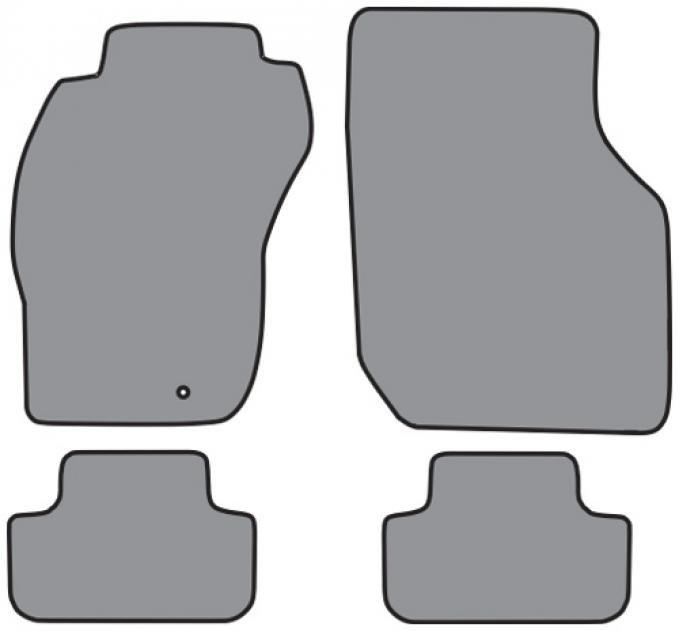 ACC  Mitsubishi Eclipse Coupe Floor Mat 4pc (FM65 FM65R) Cutpile, 1995-1999