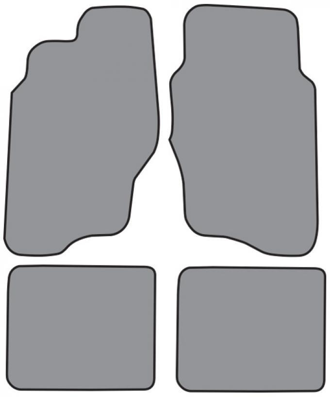 ACC  Pontiac Grand Am Floor Mat 4pc (FM153F FM18R) Cutpile, 1999-2005