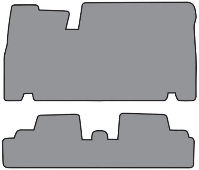 ACC  Cadillac Eldorado 1pc Frt & 1pc Rr Floor Mat 2pc (FM63 FM63R) Loop, 1967-1970