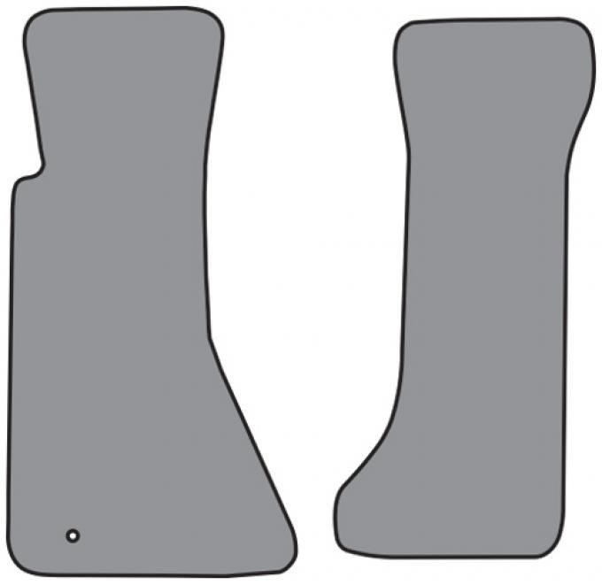 ACC 1994-1996 Chevrolet Corvette Floor Mat without Heel Pad 2pc (FM77) Cutpile