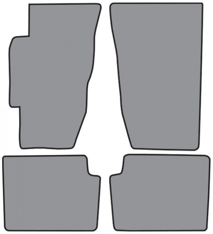 ACC  Honda Accord Floor Mat 4pc (FM72 FM72R) Cutpile, 1994-1997