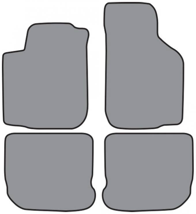 ACC  Volkswagen Golf Floor Mat 4pc (FM218 FM218R) Cutpile, 1999-2000