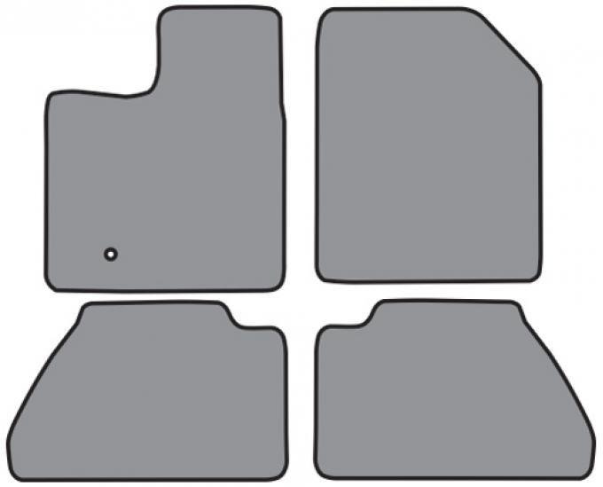 ACC  Ford Edge Floor Mat 4pc (FO462 FO462R) Cutpile, 2007-2010