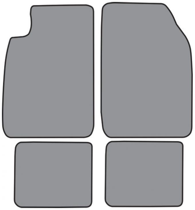 ACC  Nissan Sentra Floor Mat 4pc (NI9194F FM18R) Cutpile, 1991-1994