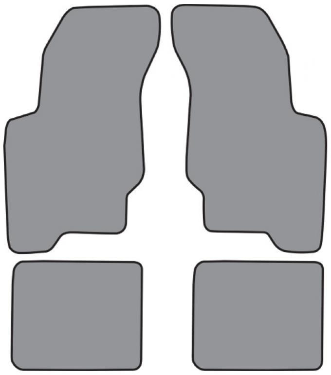 ACC  Buick Skylark Floor Mat 4pc (FM74F FM18R) Cutpile, 1992-1998