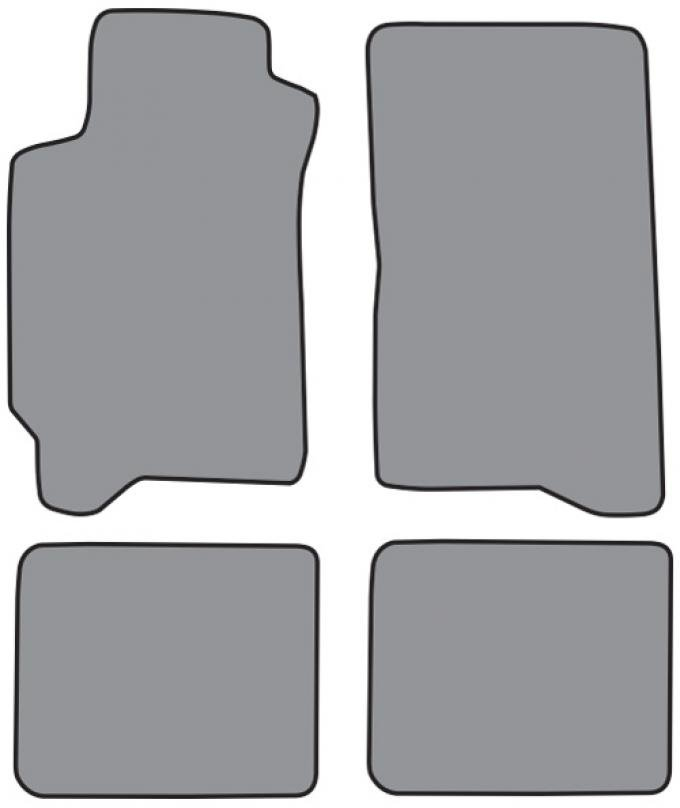 ACC  Subaru Impreza Floor Mat 4pc (A5340F FM18R) Cutpile, 1993-2000