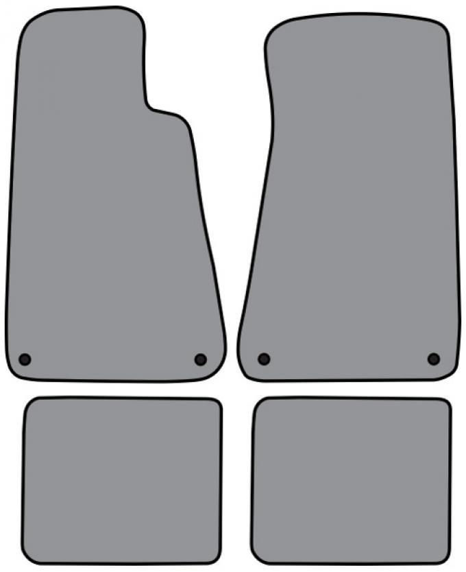 ACC  Buick Roadmaster Floor Mat with Snaps 4pc (FM89FW/SNA FM89R) Cutpile, 1994-1996