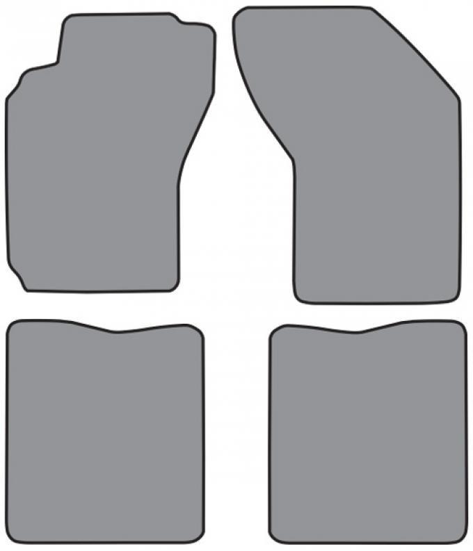 ACC  Nissan Maxima Floor Mat 4pc (FM69 FM69R) Cutpile, 1989-1994