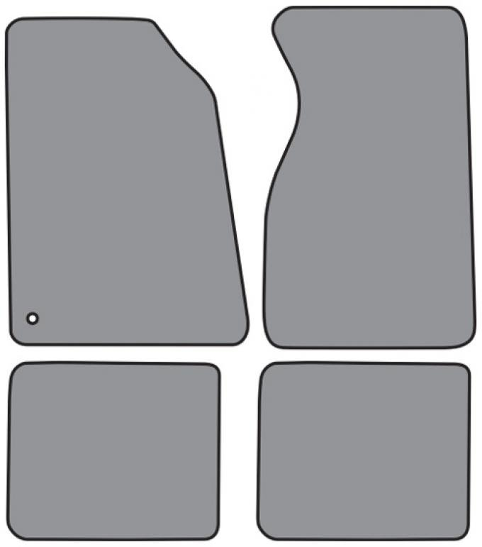 ACC  Ford Mustang Floor Mat 4pc (FM93F FM18R) Cutpile, 1994-2004