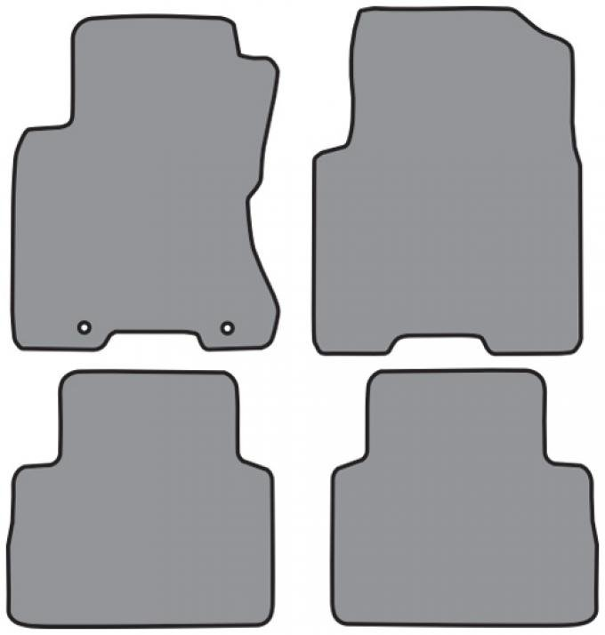 ACC  Nissan Rogue Floor Mat 4pc (P601 P601R) Cutpile, 2008-2013
