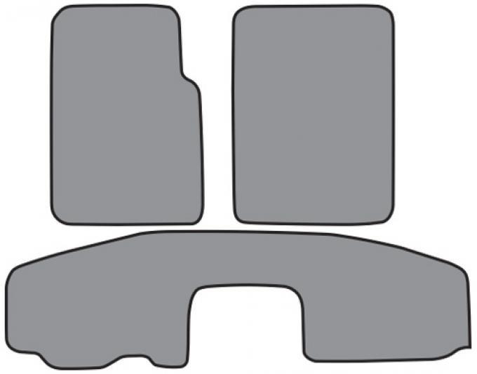 ACC  Jeep Wrangler Floor Mat 2pc Frts & 1pc Rr Short Console (FM164-1) Cutpile, 1997-2006