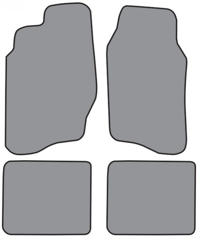 ACC  Pontiac Sunfire 2DR/4DR Floor Mat 4pc (FM144F FM18R) Cutpile, 1995-2005