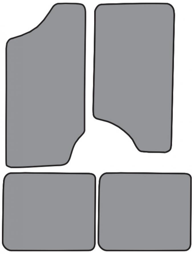 ACC  Oldsmobile Bravada Floor Mat 4pc (FM100F FM18R) Cutpile, 1996-2001