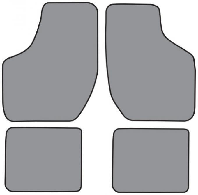 ACC 1995-1999 Chevrolet Monte Carlo Floor Mat 4pc (FM274F FM18R) Cutpile