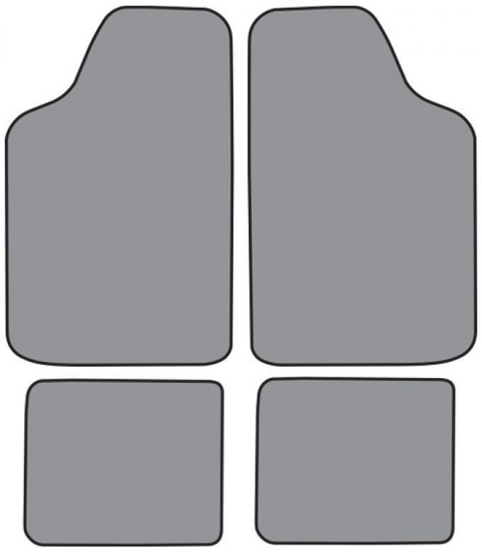 ACC  Ford Fiesta Floor Mat 4pc (FO254F FM18R) Cutpile, 1978-1980