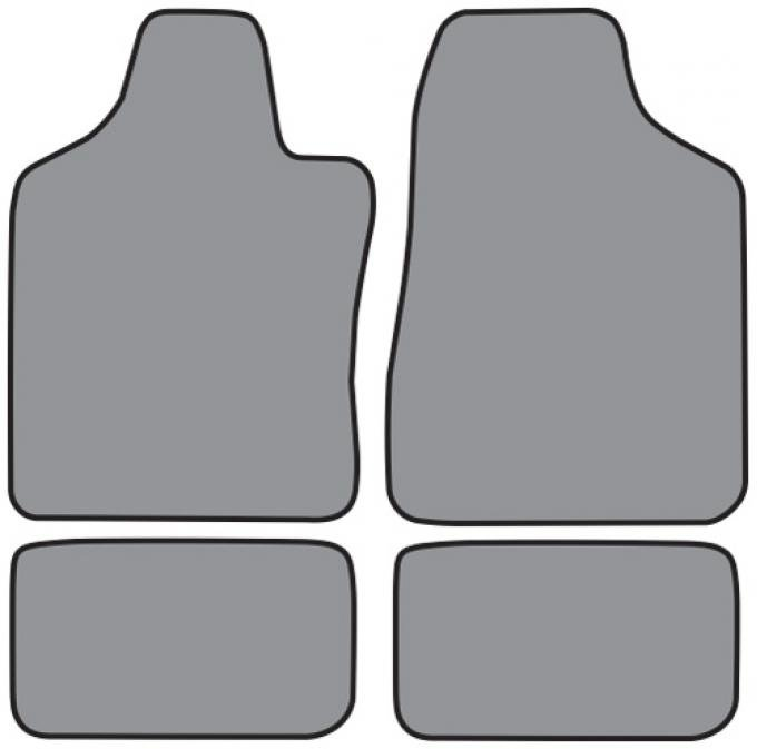 ACC  Ford Escort Floor Mat 4pc (FM139 FM139R) Cutpile, 1997-2002
