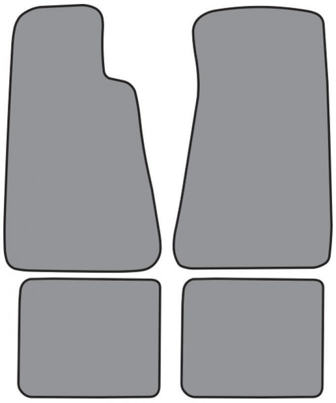 ACC 1994-1996 Chevrolet Impala Floor Mat without Snaps 4pc (FM89F FM89R) Cutpile