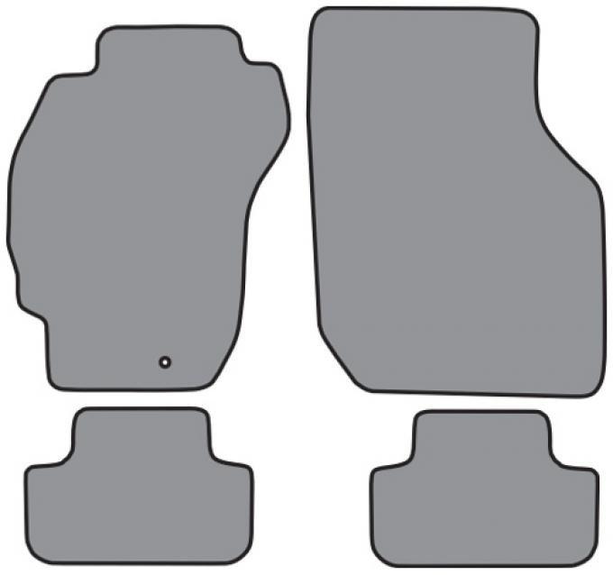 ACC  Mitsubishi Eclipse Convertible Floor Mat 4pc (FM64 FM64R) Cutpile, 1995-1999