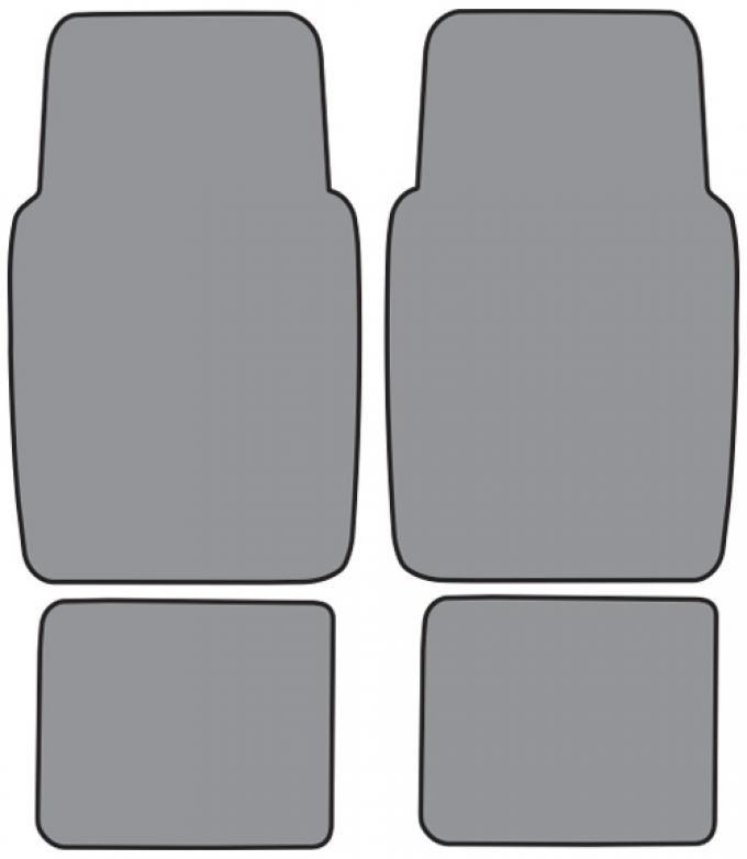 ACC  Ford Escort Floor Mat 4pc (FM152F FM18R) Cutpile, 1991-1996