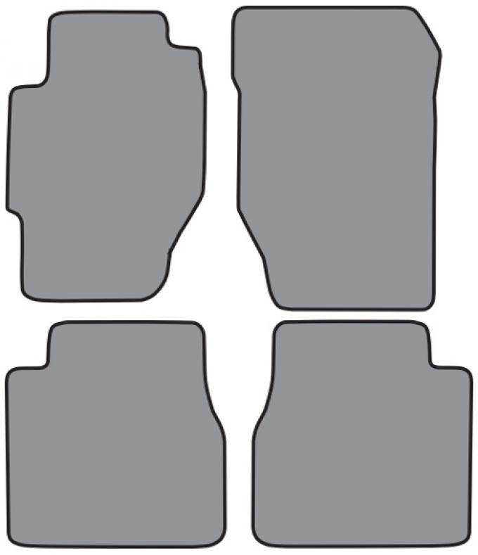 ACC  Honda Accord 2DR Floor Mat 4pc (FM129 FM129R) Cutpile, 1998-2002