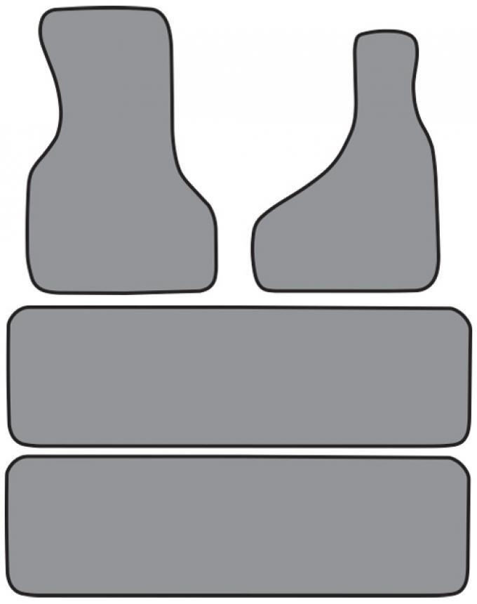 ACC  Chevrolet Astro 2pc Frts & 2pc Rr Runners Floor Mat 4pc (FM155 FM155R) Cutpile, 1990-2000