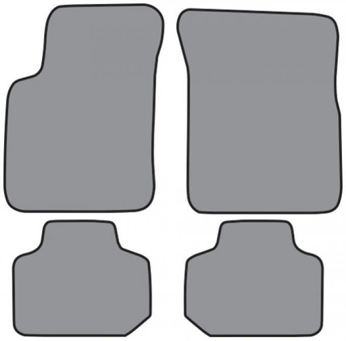 ACC  Pontiac Bonneville Floor Mat 4pc (FM233 FM233R) Cutpile, 2000-2005