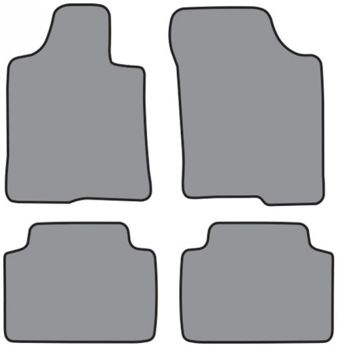 ACC  Toyota Tundra Access Cab Floor Mat 4pc (A5374 A5374R) Cutpile, 2000-2006