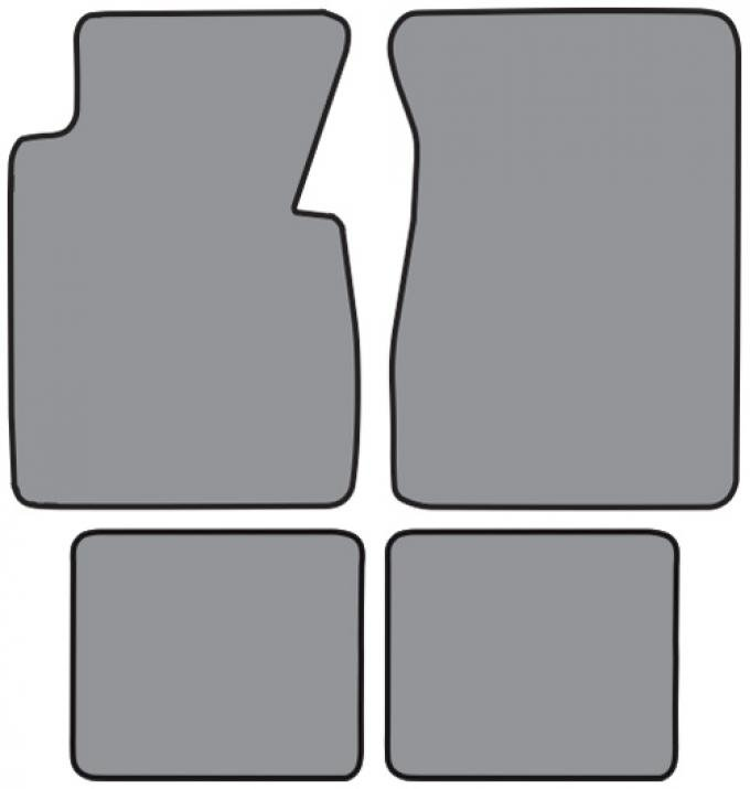 ACC  Chevrolet Bel Air Floor Mat 4pc (FM357F FM2R) Daytona, 1955-1956