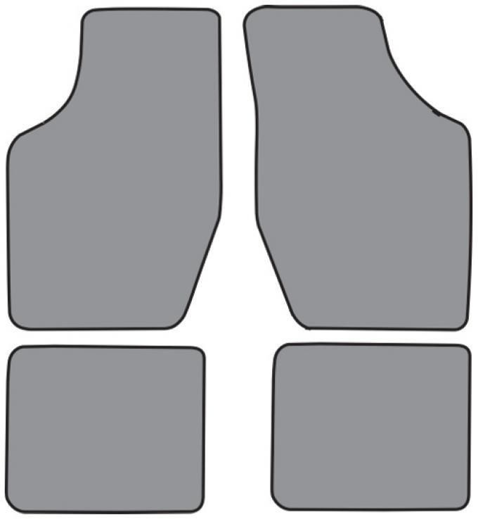 ACC  Buick Somerset Floor Mat 4pc (FM12F FM18R) Cutpile, 1986-1987
