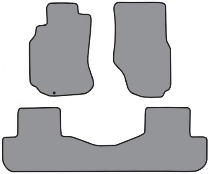 ACC  Infiniti G35 Sedan 2pc Frts & 1pc Rr Floor Mat (A5337 A5337R) Cutpile, 2003-2005