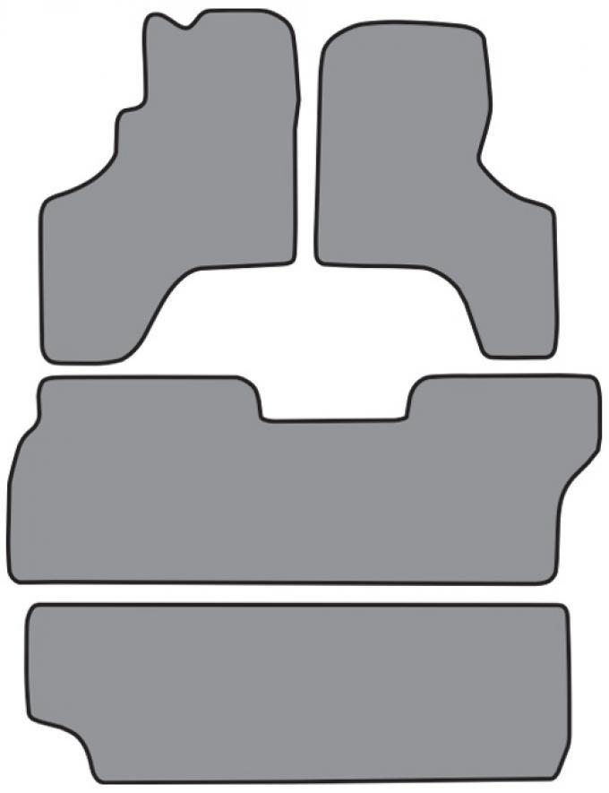 ACC 1994-1997 Toyota Previa Floor Mat 4pc (FM150 FM150A FM150B) Cutpile