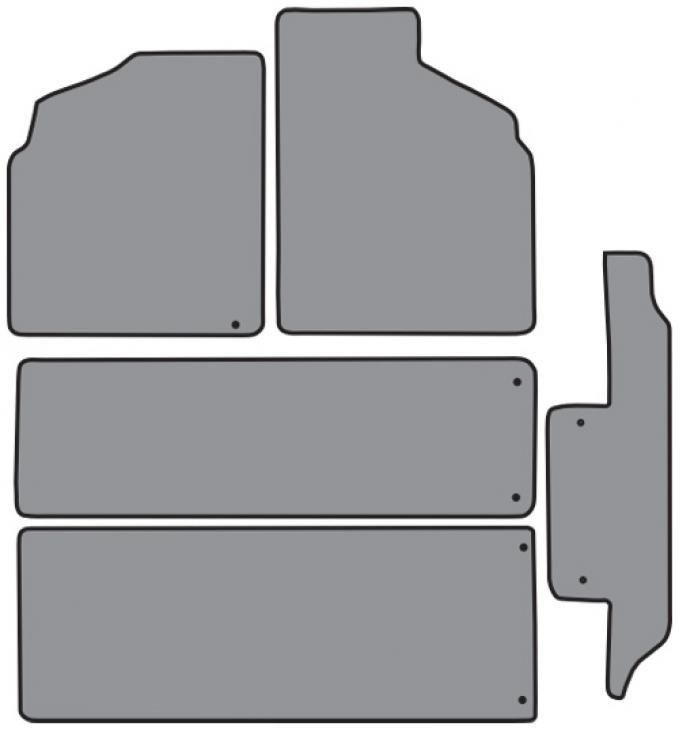 ACC  Mercury Villager 2pc Frts 2pc Rr Runners & Side Door Floor Mat 5pc (FM138 FM138R) Cutpile, 1993-1998