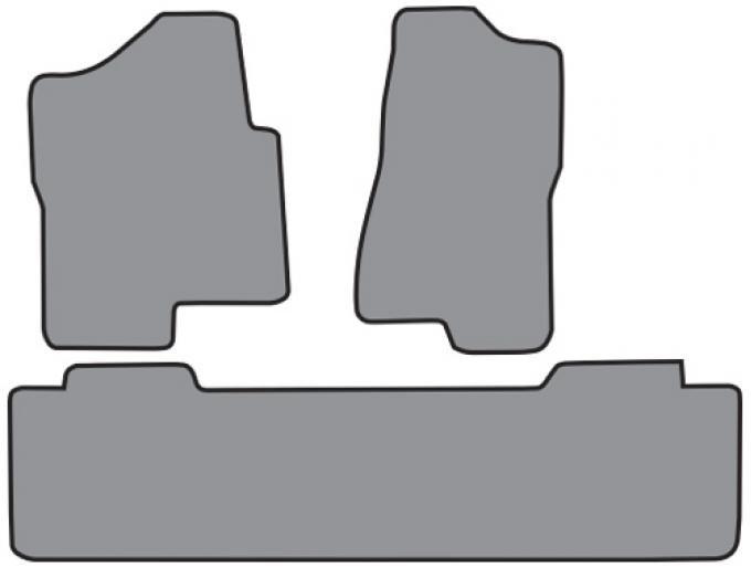 ACC  Chevrolet Silverado 1500 Classic Ext Cab 2pc Frts & 1pc Rr Floor Mat (FM149 FM149R) Cutpile, 2007