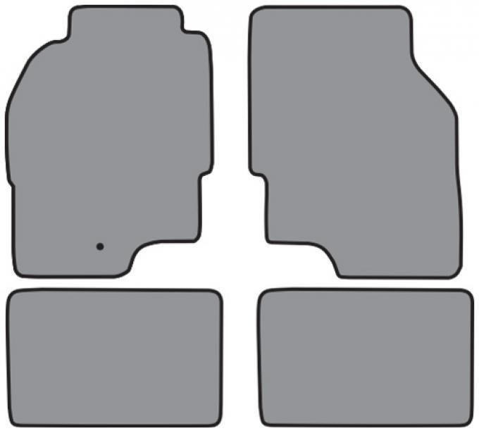 ACC  Dodge Avenger Coupe Floor Mat 4pc (FM161 FM161R) Cutpile, 2000