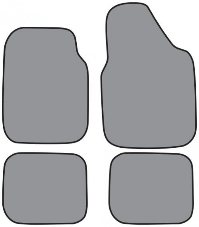 ACC  Chevrolet Corvair Floor Mat 4pc (FM5018 FM5018R) Loop, 1965-1969