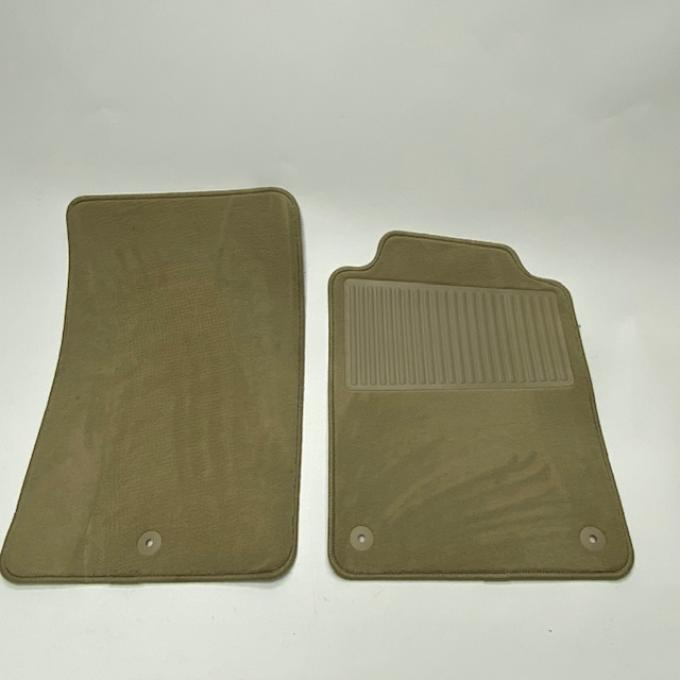 Corvette Floor Mats 2pc Truvette With Heel Pad, Cashmere (T648) BLEM 1997-2013