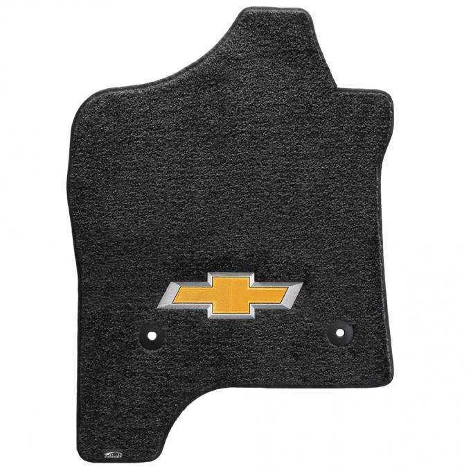 Lloyd Mats 2014-2018 Chevrolet Silverado 1500 Silverado 1500 2014-2018 Dbl/crew Cab 2 Piece Front Ebony Ultimat Gold Bowtie Logo 600041