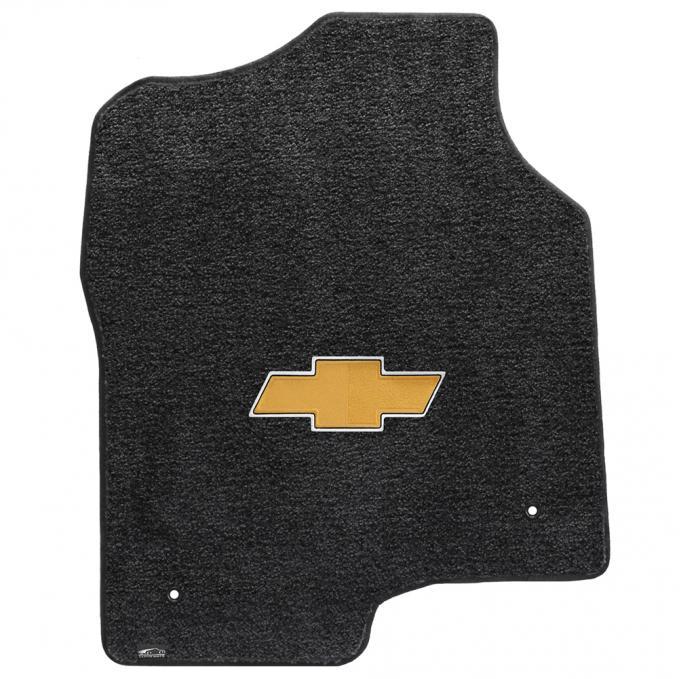 Lloyd Mats 2000-2006 Chevrolet Tahoe Tahoe 2000-2006 2 Piece Front Ebony Ultimat Gold Bowtie Logo 600050