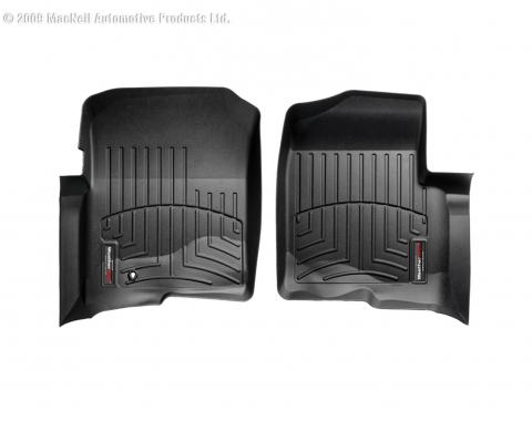 Weathertech 4414361, Floor Liner, DigitalFit (R), Molded Fit, Raised Channels With A Lower Reservoir, Black, High-Density Tri-Extruded Material, 2 Piece