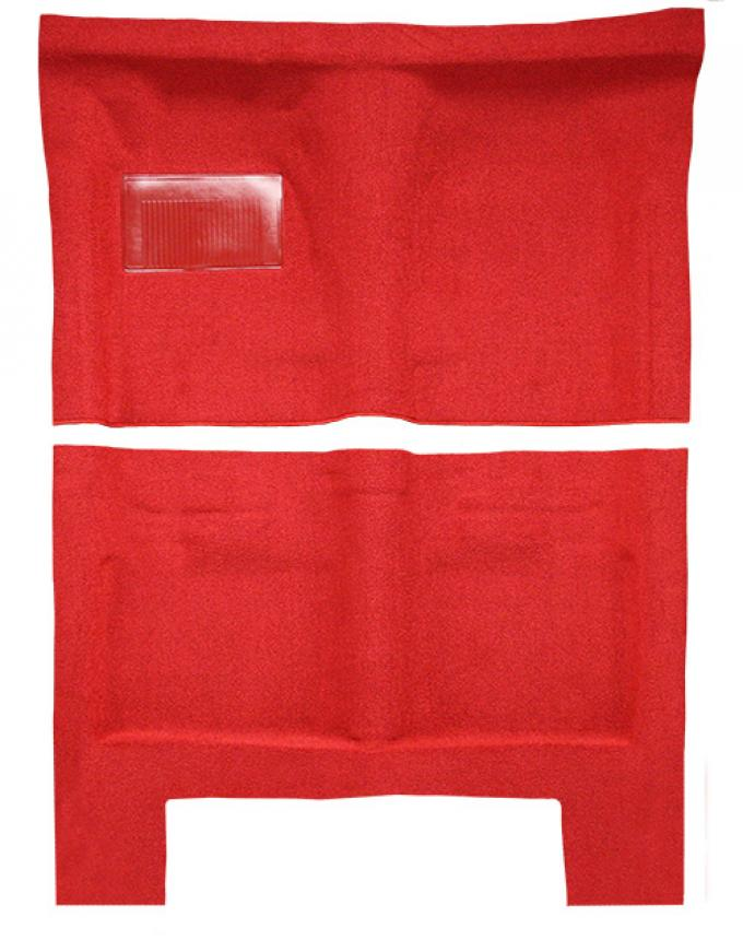 ACC  Dodge Charger Auto without Console Strips Pass Area Loop Carpet, 1966-1967