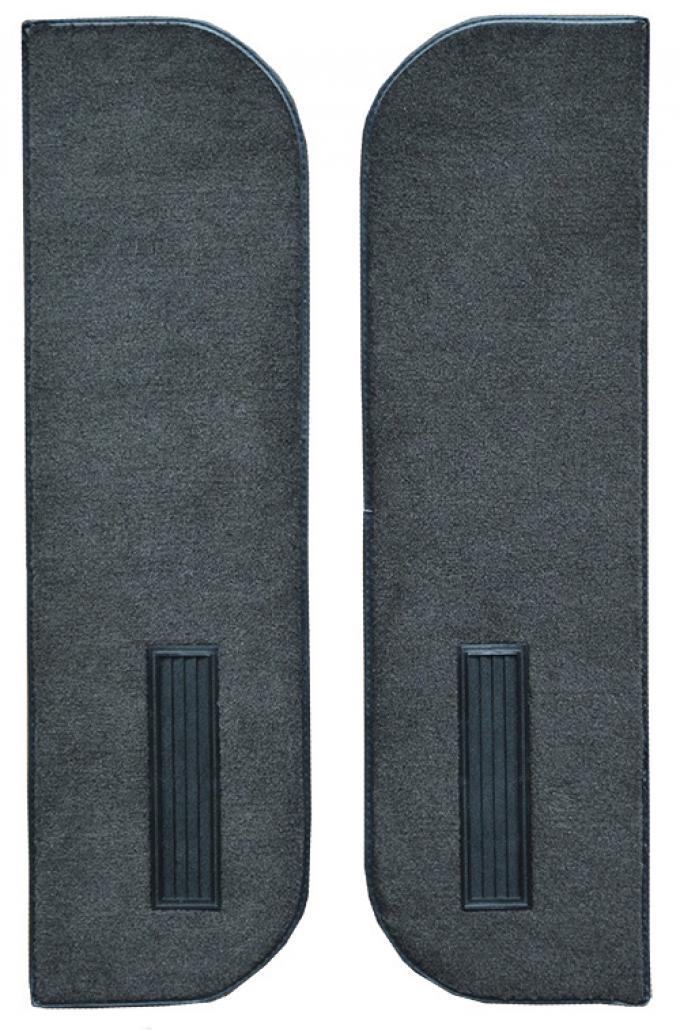 ACC  Chevrolet K5 Blazer Door Panel Inserts on Cardboard w/Vents 2pc Cutpile Carpet, 1978-1980