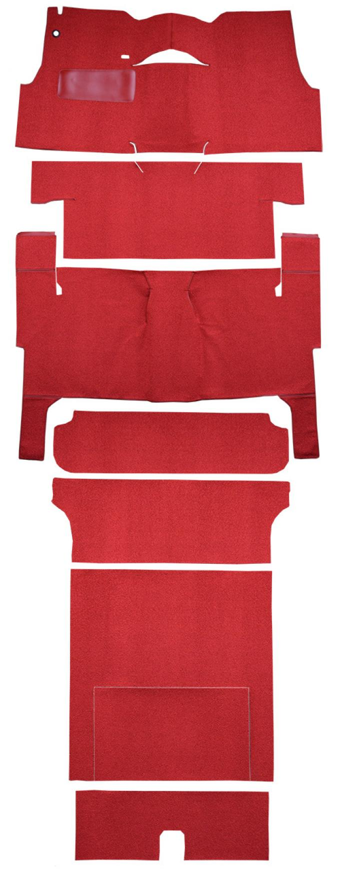 ACC  Chevrolet Nomad 2DR Wagon Bench Seat Complete Loop Carpet, 1956