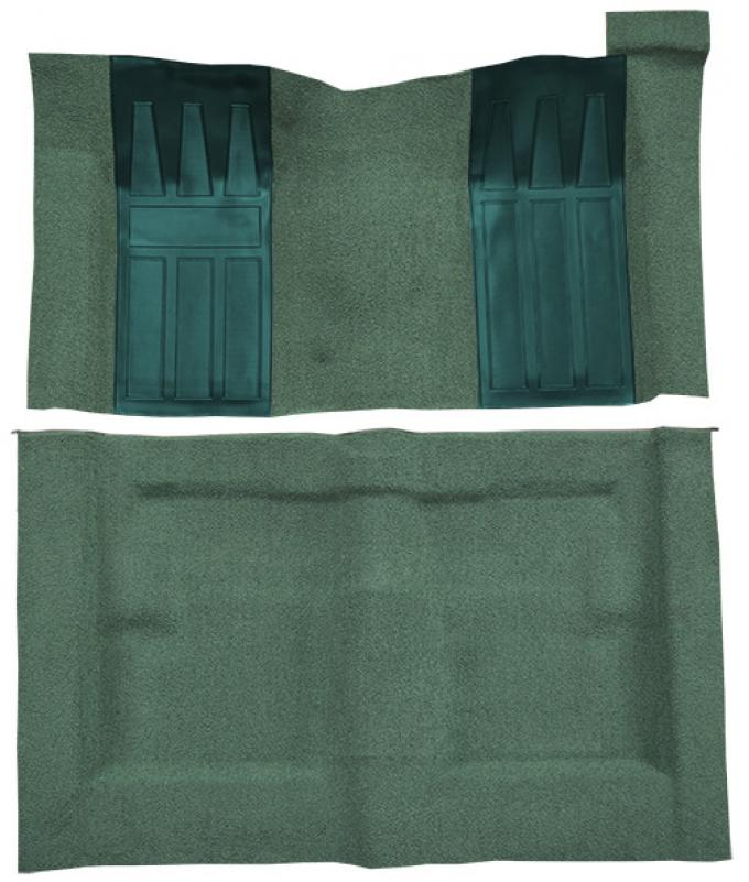 ACC  Ford Torino GT 2DR Hardtop Auto with 2 Aqua Inserts Loop Carpet, 1969-1971