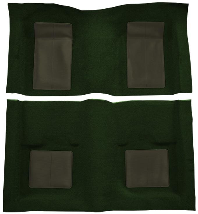 ACC  Ford Mustang Mach I with 4 Green Inserts Fastback Nylon Carpet, 1969