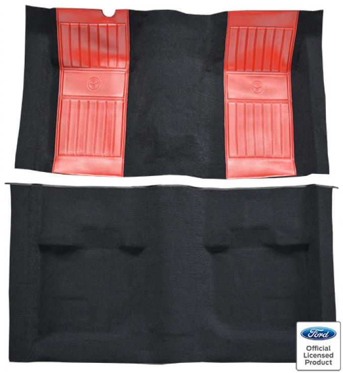 ACC  Ford Mustang Mach I with 2 Red Running Pony Inserts Fastback Nylon Carpet, 1971-1973