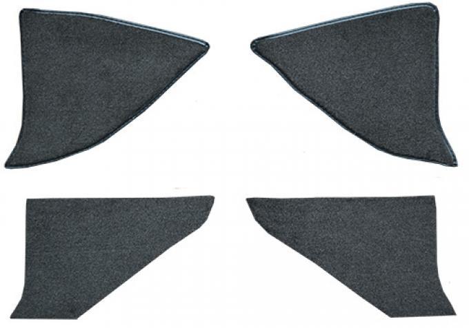 ACC  Chevrolet K5 Blazer Kick Panel Inserts with Cardboard Cutpile Carpet, 1975-1986