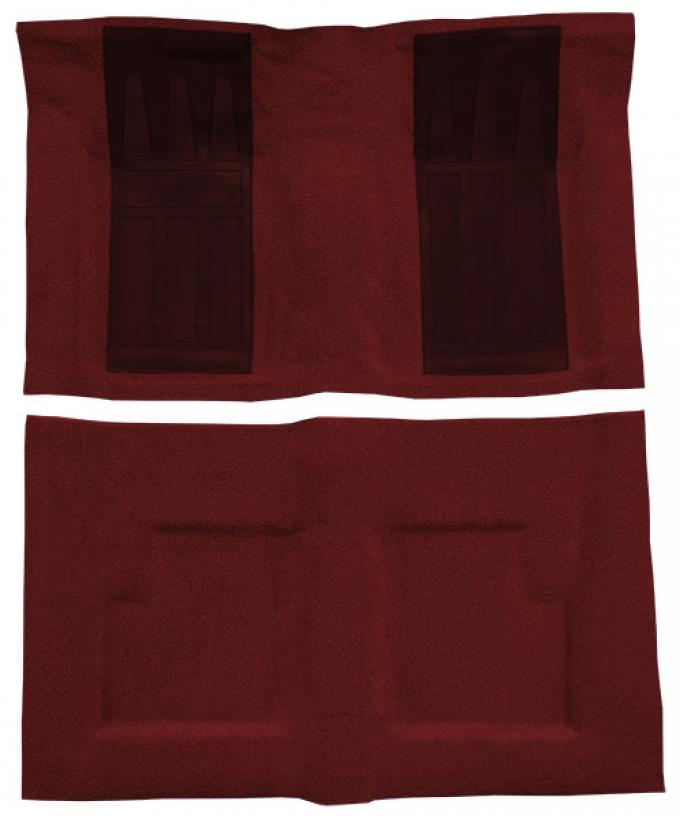 ACC  Ford Torino GT 2DR Convertible Auto with 2 Maroon Inserts Loop Carpet, 1969-1971